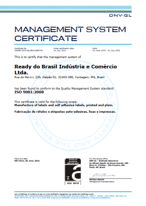certificado iso 2015